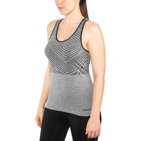 Craft Cool Comfort She Camiseta Racerback Mujer, black melange